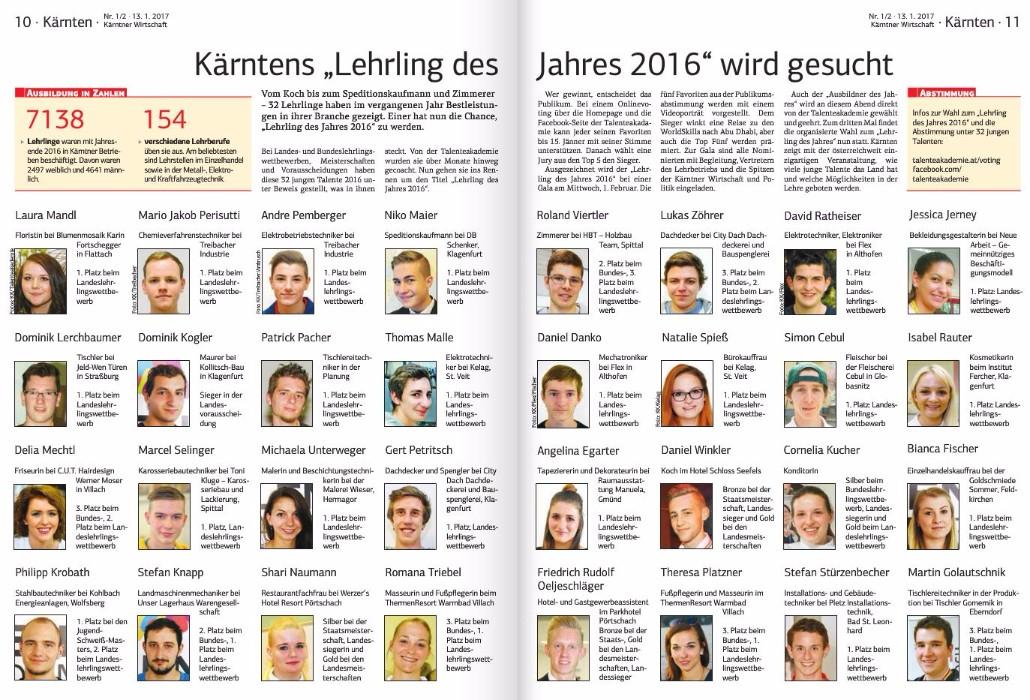 Kärntner Wirtschaft 13.01.2017