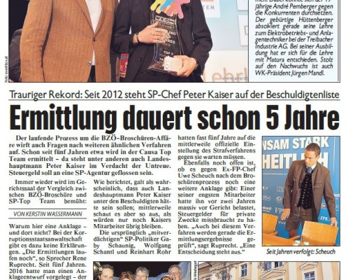 Kronen Zeitung 02.02.2017 Lehrling des Jahres