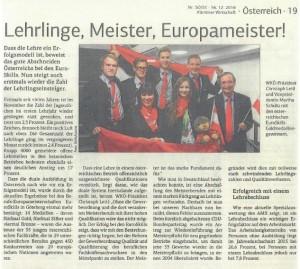 Kärntner Wirtschaft 16.12.2016 EuroSkills