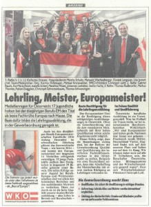 Kronen Zeitung 10.12.2016 EuroSkills