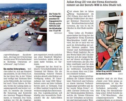 Kleine Zeitung 14.10.2017 WorldSkills