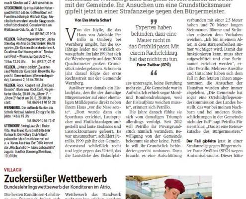 Kleine Zeitung 25.06.2017 Konditoren