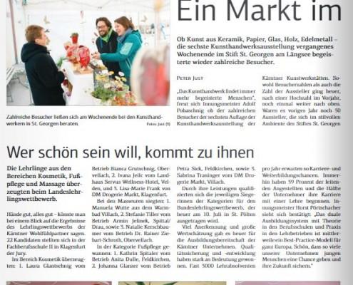 Kärntner Wirtschaft 05.05.2017 Fußpflege Kosmetik Massage