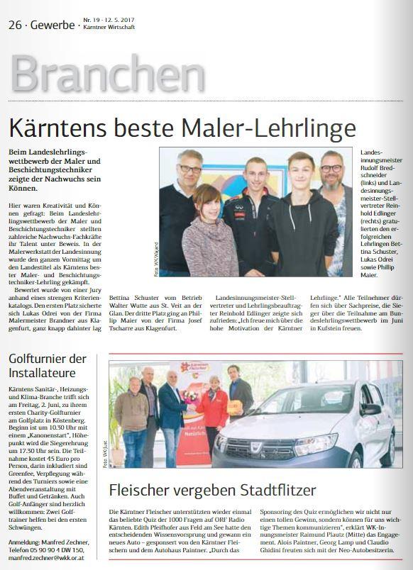 Kärntner Wirtschaft 12.05.2017 Maler