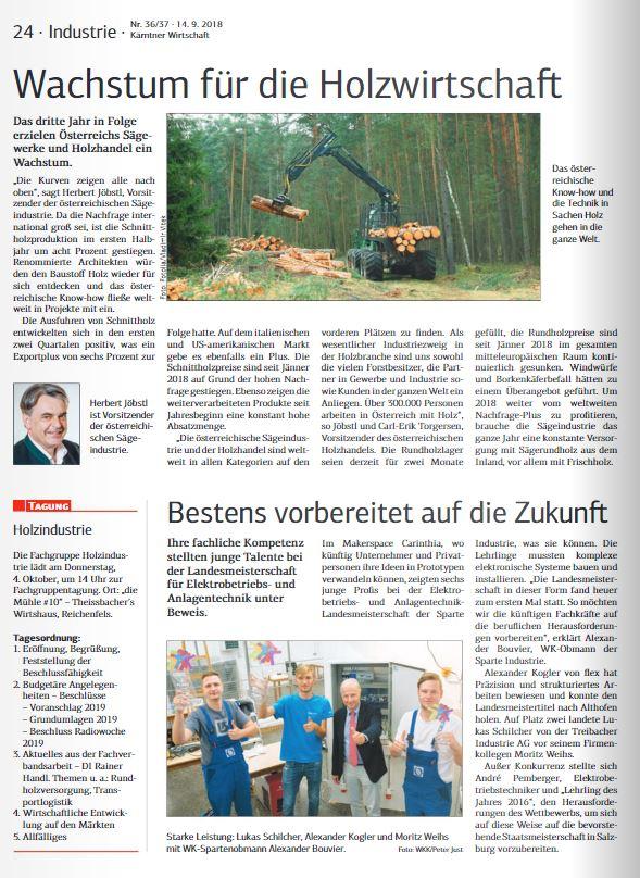 Kärntner Wirtschaft 14.09.2018 Elektrobetriebs- und Anlagentechnik