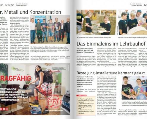Kärntner Wirtschaft 23.06.2017 Metalltechnik und Installateure