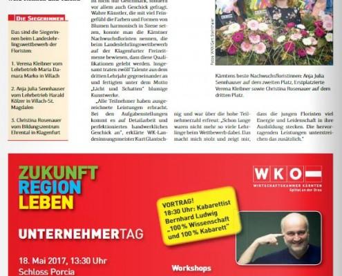Kärntner Wirtschaft 28.04.2017 Floristen