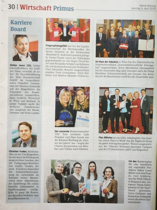 Pressespiegel Talenteakademie Kärnten