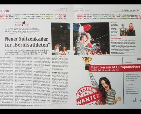 Kleine Zeitung 15.12.2017 EuroSkills