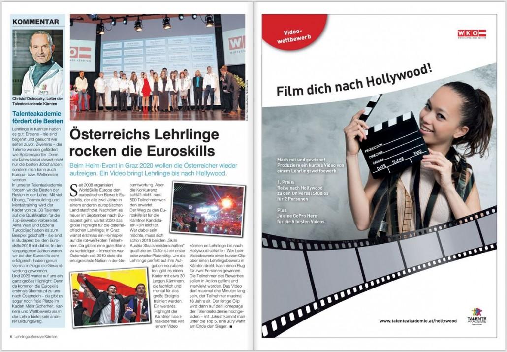 Kronen Zeitung 10.03.2018 EuroSkills & Videowettbewerb