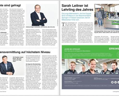 Kronen Zeitung 10.03.2018 Lehrling des Jahres