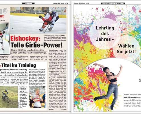 Kronen Zeitung 22.01.2018 Lehrling des Jahres (2)