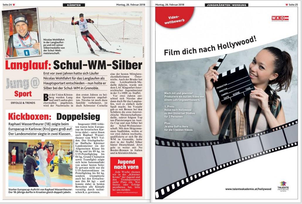 Kronen Zeitung 26.02.2018 Videowettbewerb