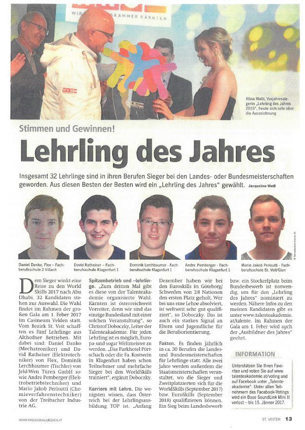 Regionalmedien 11.01.2017 Lehrling des Jahres (2)