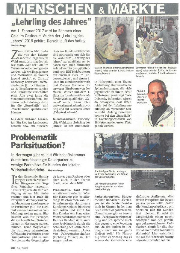 Regionalmedien 28.12.2016 Lehrling des Jahres (2)
