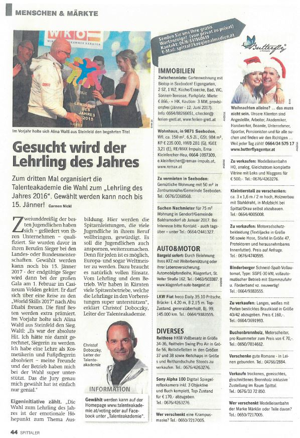 Regionalmedien 28.12.2016 Lehrling des Jahres (4)