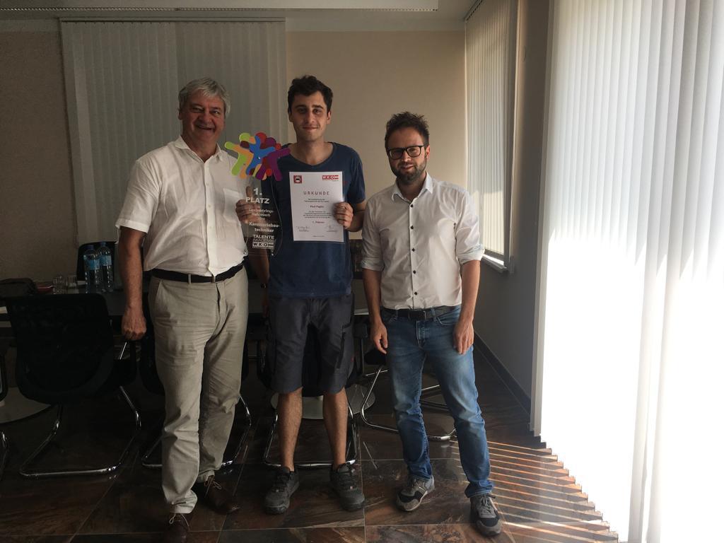 1. Platz Paul Pagitz mit Hr. Robinig und Dr. Preisig