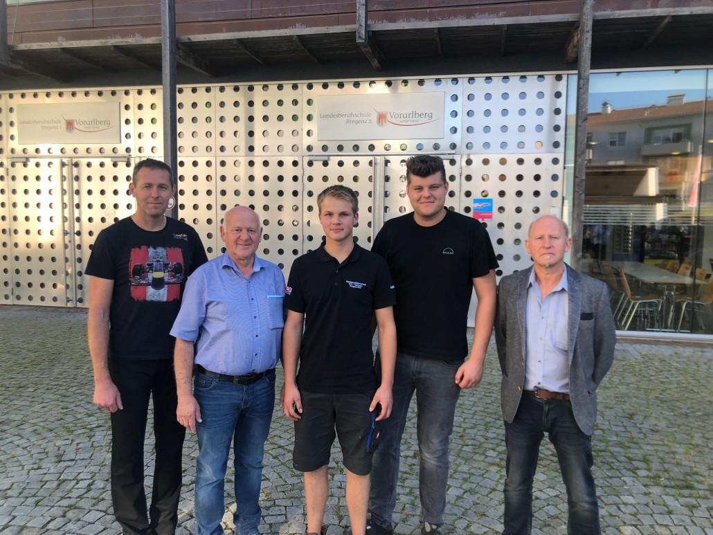 Schnabl-Kerschbaumer-Ulbing-Mörtl-Kressnig vor der FBS Vbg